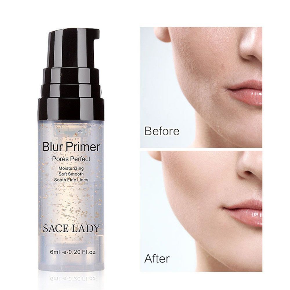 SACE LADY 6ml Blur Primer Makeup Base Face 24k Gold Elixir Oil Control Face Cream Matte Nude Make Up Pores Foundation Primer