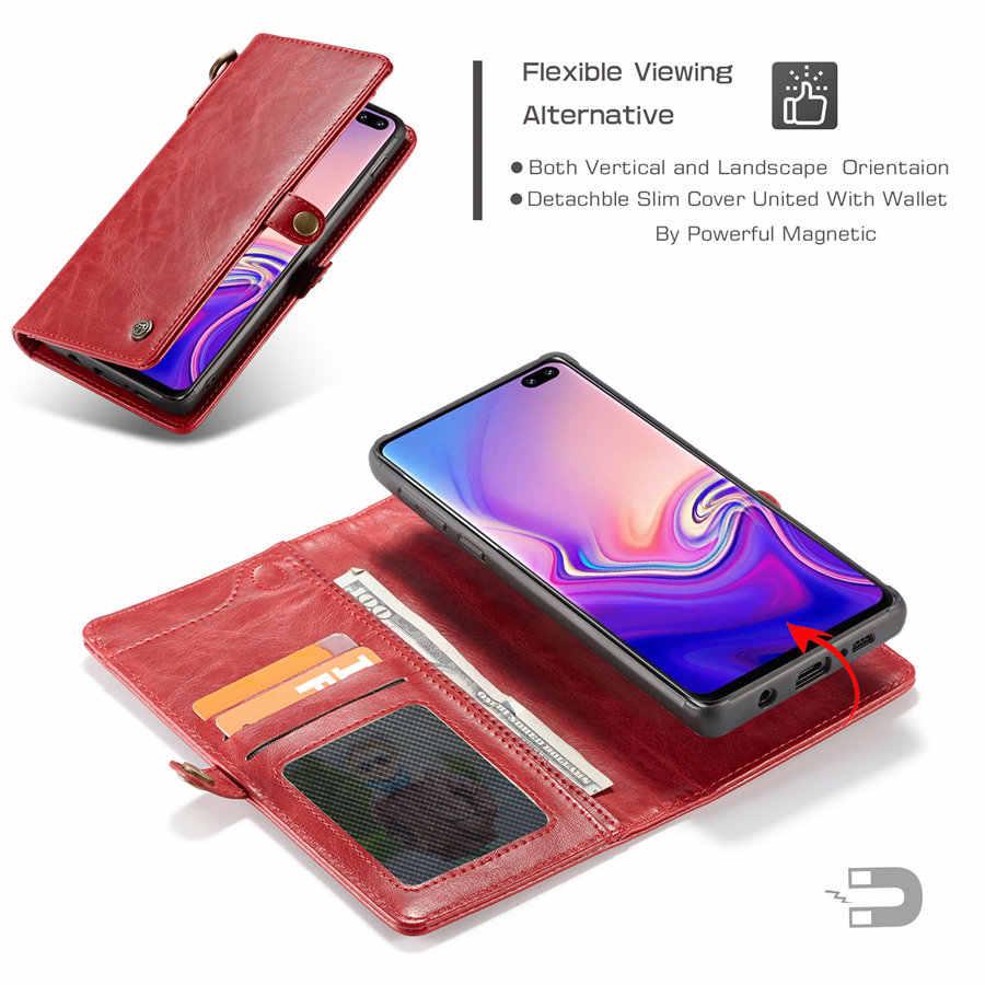 Чехол-Кошелек для телефона в деловом стиле для samsung Galaxy S8, S9, S10 Plus, чехол из ТПУ + поликарбоната, Магнитный чехол-кошелек с веревкой для Note8, Note9, чехол