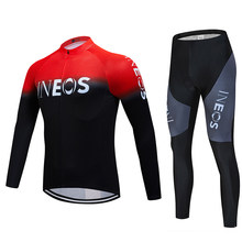 Ineos2019 Cycling Men's Cycling Jersey Bike Outdoor Mountain Bike Clothes Warm Plus Velvet Suit(China)