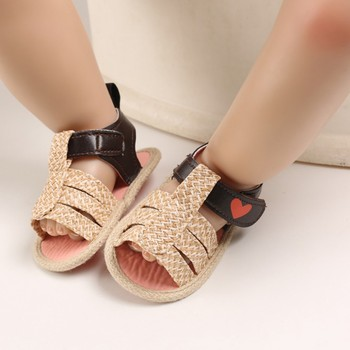 Bobora Summer 0-18M Newborn Infant Baby Girl Princess Sandals Sneakers Toddler Soft Crib Walkers Shoes image
