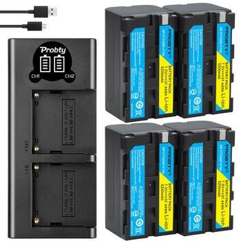 5200mAh NP-F770 NP-F750 NP F770 np f750 NPF770 750 batería + LED cargador USB para Sony NP-F550 NP-F770 NP-F750 F960 F970