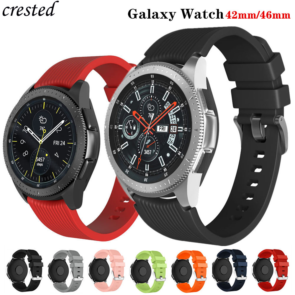20mm/22mm Watch Band For Samsung Galaxy Watch 46mm/42mm/active 2 Strap Gear S3 Frontier/S2 20/22 Mm Silicone Bracelet Watchband