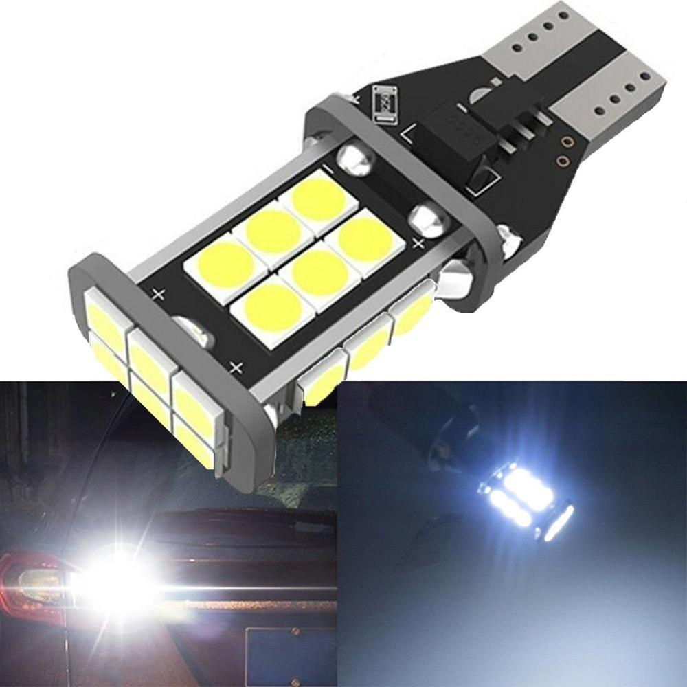 2PCS <font><b>T15</b></font> W16W 921 912 Super Bright 1200Lm 3030 SMD <font><b>LED</b></font> CANBUS NO OBC ERROR <font><b>Car</b></font> Backup Reserve Lights Bulb Tail <font><b>Lamp</b></font> Xenon White image
