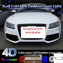 28,8 cm * 9,9 cm 4D coche iluminado rejilla Led BlLED logotipo para A1 A3 A4 A5 A6 A7 Q3 Q5 Q7 TT R8 emblema de parrilla delantera logotipo