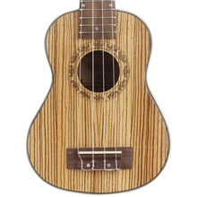 ABGZ-Irin High Grade Ukulele Kits Zebra Wood 4 Strings Hawaiian Mini Guitar Uke Bag String Capo Strap