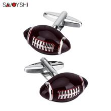 SAVOYSHI Brown Rugby Cufflinks Nerd Accessories Shirt Cufflings Geek Gift Unisex Sleeve Cuttons gemelos Personalizados