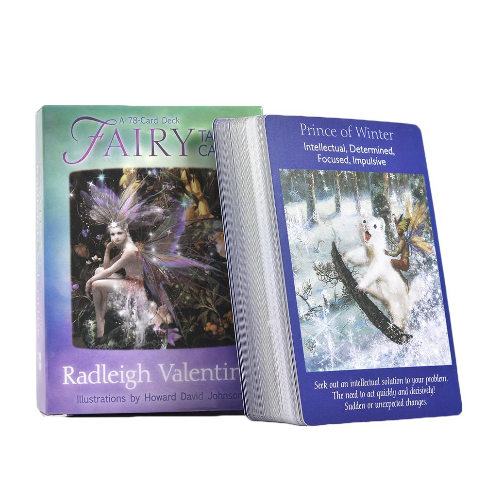 Newest Fairy Tarot Cards A 78-Card Deck And Guidebook New Cards Book Fate Divination For Fortune For Children And Adult