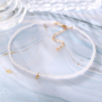 17KM Fashion Bead Pearl Choker Necklace For Women Elegant Simple Pearl Pendant Necklace Wedding Jewelry 2021 2
