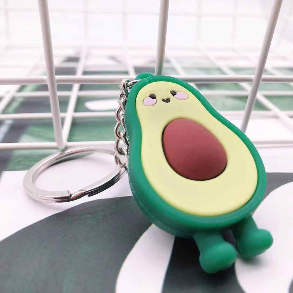 2019 neue Simulation Obst Avocado Herz-förmige Schlüsselbund Frauen und Männer Schlüssel Kette Nette Anime Cartoon Kinder Schlüssel Ring geschenk Porte Clef