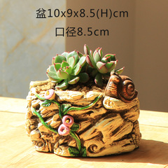 Snail Decoration Cement Tree Root Planter Mould Flowerpot Silicone Concrete Mold for Succulent Plants Cactus Clay Pot Molds in Clay Molds from Home Garden