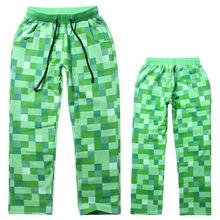 Minecrafting dziecięce spodnie chłopięce dziecięce spodnie w kratę chłopięce ubrania chłopięce leginsy dziewczęce spodnie chłopięce dziecięce jesienne ubrania tanie tanio COTTON CN (pochodzenie) Luźne Unisex Kieszenie Pełnej długości Pasuje prawda na wymiar weź swój normalny rozmiar