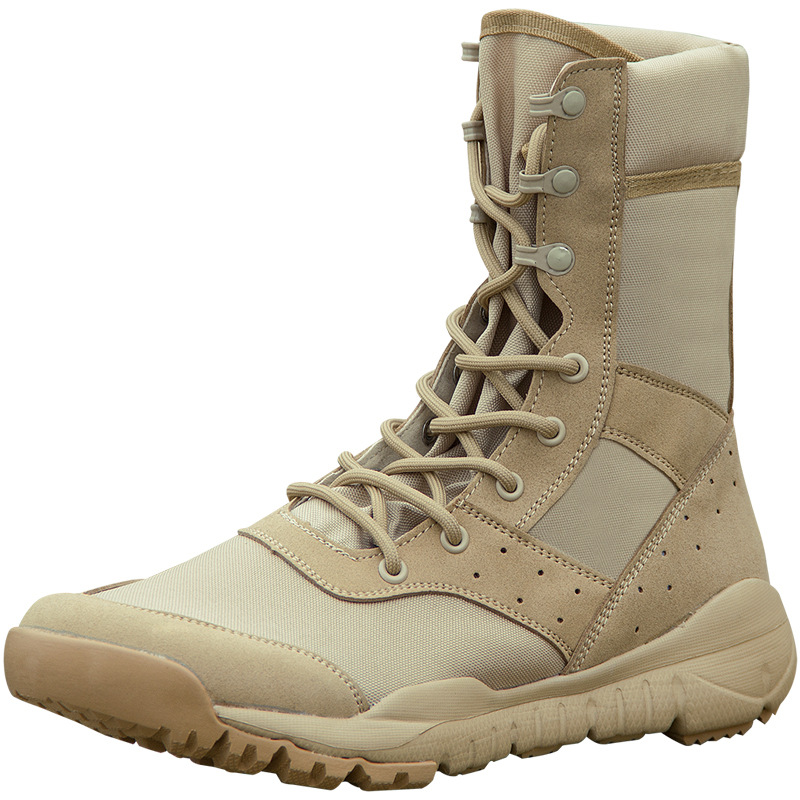 Summer Ultra-light Air-permeable Combat Boots Desert Army Boots Outdoor Special Soldier Shoes Light Mesh
