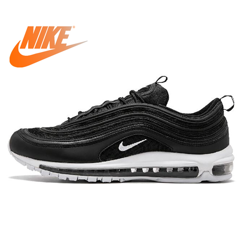 "Original Nike Air Max 97 ""Midnight Navy"" Men Running Shoes Sneakers Outdoor Breathable Athletic Footwear Good Quality 2019 New"