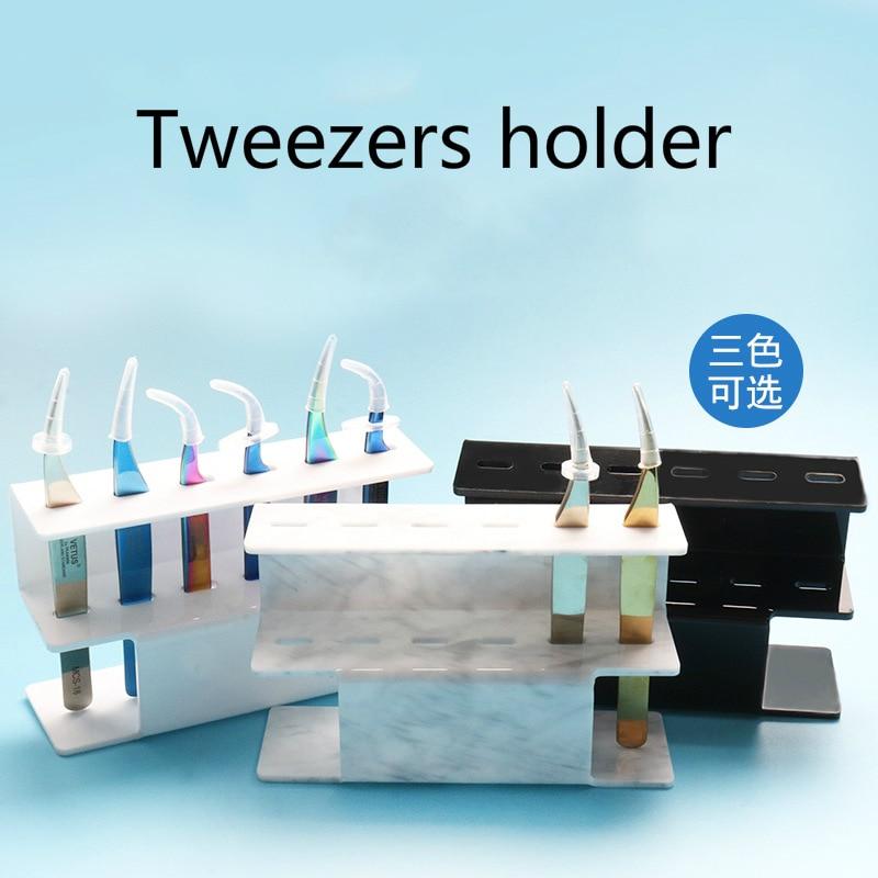 Acrylic Eyelash Tweezer Storage Holder Can be placed 6Pcs Tweezers Durable Convenient Tweezers Stand Shelf