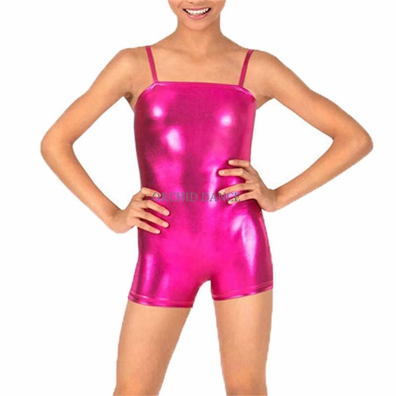Profesjonalny tanie taniec gimnastyka nosić dziewczyny Camisole Shorty Unitard