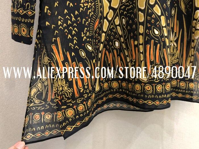 Весенне-летнее платье с длинным рукавом, женское модное платье-рубашка с принтом жирафа, высококачественное повседневное Хлопковое платье мини-платье