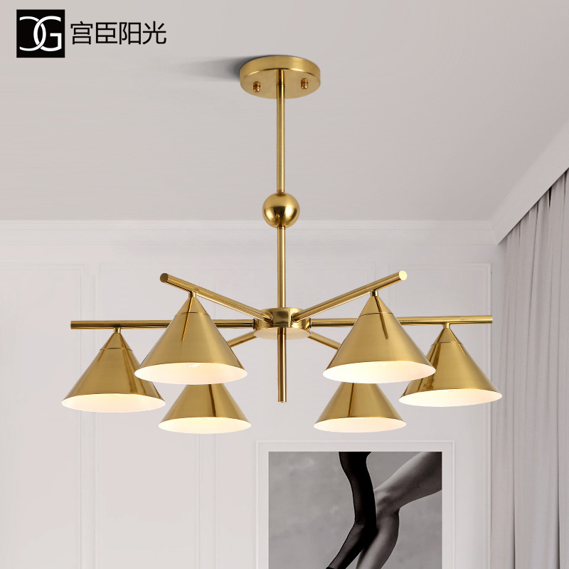 Nordic Industrial Lamp Deco Chambre Crystal  Restaurant  Home Decoration E27 Light Fixture Hanging Ceiling Lamps  Deco Maison