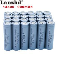 24pcs 14500 900mAh 3.7V Li-ion Rechargeable Batteries AA Battery Lithium Li ion Cell for Led Flashlight Headlamps Torch Mouse 2 4pcs unitek 3 7v 18500 battery 1800mah rechargeable li ion lithium ion cell with welding tabs pins for led torch flashlight