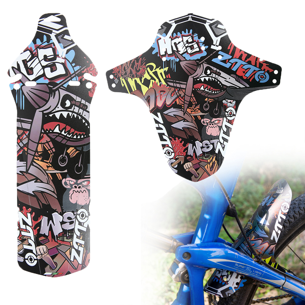 1pc Removable Universal Bicycle Fenders Plastic Colorful Front Bike Mudguard Bike Wings Mud Guard Cycling Accessories(China)