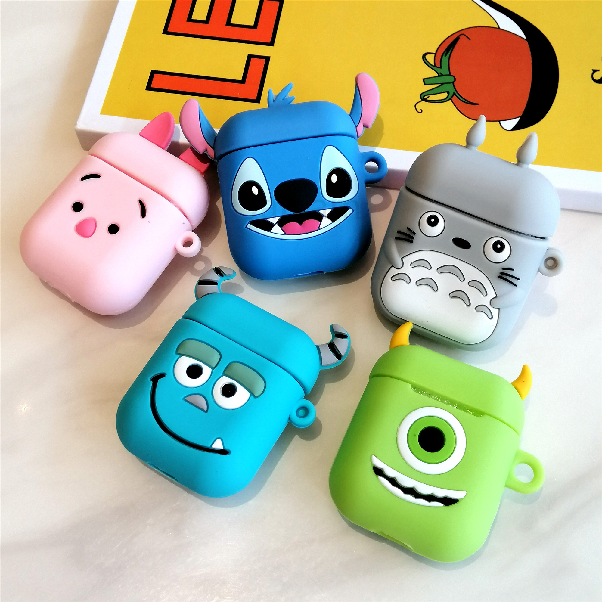 For AirPods Case 3D Cute Biscuits Earphone Cases For Apple Airpods Protect Cover Without Finger Ring Strap