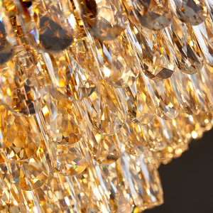 Image 5 - Luxury modern crystal chandelier for dining room design kitchen island chain lighting fixture gold home decoration cristal lamp