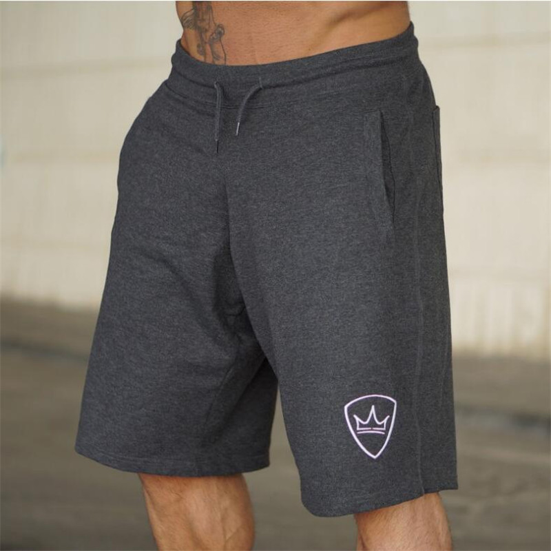 Men 2020 Summer New Loose Cotton Shorts Man Gyms Fitness Knee Length Sweatpants Male Jogger Workout  Brand Short Pants