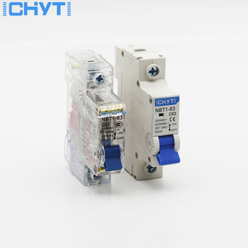 цена на ICHTYI 220v/400V 1P 6A/10A/16A/20A/25A/32A/40A/50A/63A Transparent shell Air switch Household miniature circuit breaker MCB