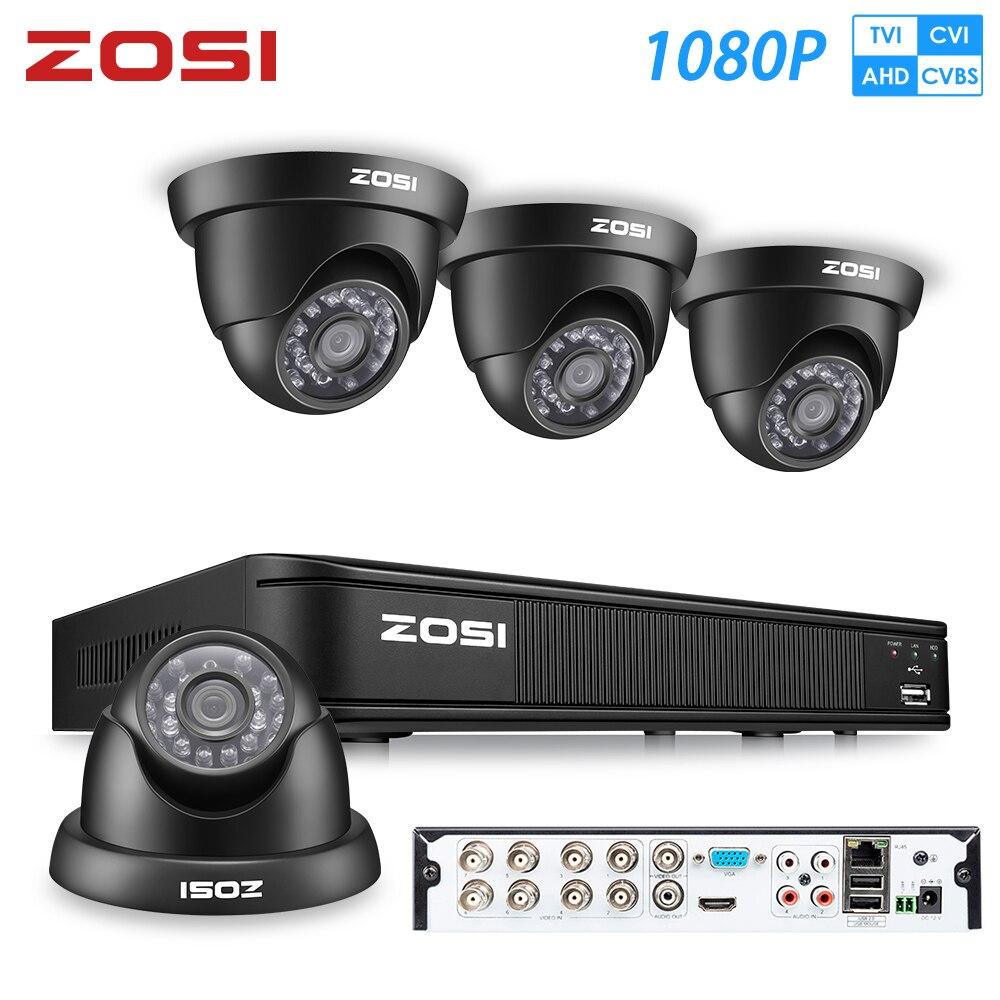 ZOSI 1080P AHD CCTV System 8CH Netzwerk TVI DVR 4PCS 1280TVL IR Wetterfeste Home Security Kamera System Überwachung DVR Kit