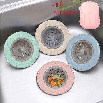 4pcs Silicone Kitchen Sink Strainer Stopper Drain Hole Sink Strainer Bathroom Drain Hair Catcher Sink Strainer Tool