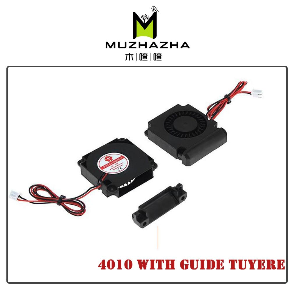 Аксессуары для 3D-принтера, 12 В, 24 В, 40*10 мм, 4010, 40 мм, постоянный ток, Турбовентилятор, подшипник, воздуходувка, радиальные охлаждающие вентилят...