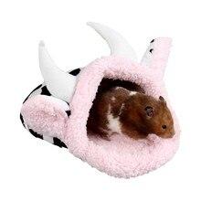Морская свинка хомяк Кровать форма коровы кролика; домашняя Зимняя Теплая Флисовая белка для ежика, шиншиллы кроватка для грызунов домик клетка-гнездо хомяк