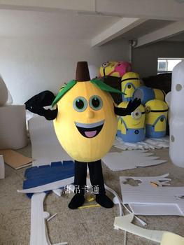 Żółte cytrynowe kostiumy maskotki owocowe kostiumy maskotki kostiumy na Halloween Chirstmas Party przebranie dla dorosłych tanie i dobre opinie Lemon