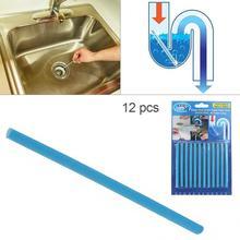 12 шт./лот трубопровод Ванна обеззараживание слив Кухня Раковина filt Sani палочки канализационная Чистящая штанга для кухни s