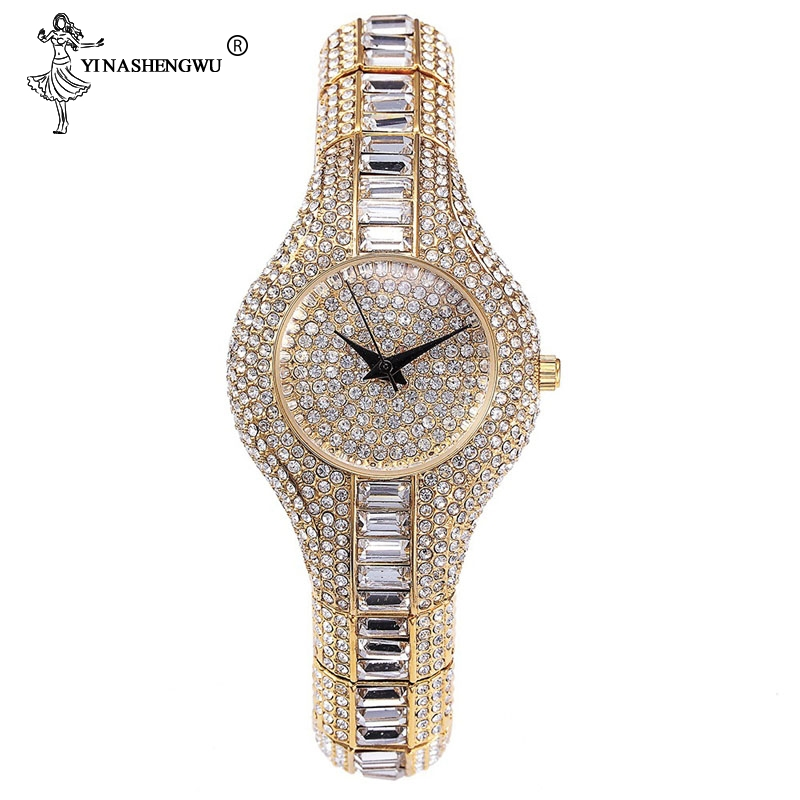 30mm Small Womens <font><b>Watch</b></font> Shockproof Waterproof Luxury Ladies Ar Metal <font><b>Watch</b></font> Bracelets Rhinestone <font><b>Bu</b></font> Cheap Chinese <font><b>Watches</b></font> Fashion image