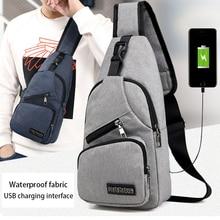 Acoki USB Charging Shoulder Crossbody Bag Men Burglar Stealth Zipper Electronic Kit Chest Pack Repellent bag Anti theft Pack