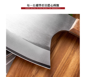 Image 3 - سكين مطبخ 6.5 بوصة الثقيلة ختم العظام سكين جزار السكاكين مقبض خشب 5CR15 الفولاذ المقاوم للصدأ