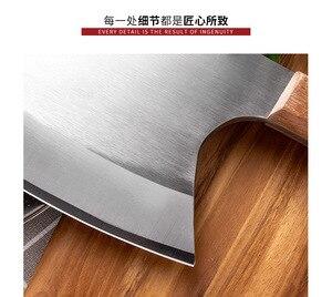 Image 3 - Couteau à os à hacher robuste, ustensile de cuisine 6.5 pouces, couteaux de boucher manche en bois acier inoxydable 5CR15