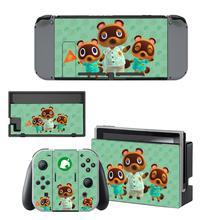 Animal Crossing מדבקת עור ויניל עבור Nintendo מתג מדבקת עור NS קונסולת ושמחה קון בקרי
