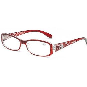 2020 mujeres bisagra flor impresión resina gafas de lectura señora gafas protectoras...