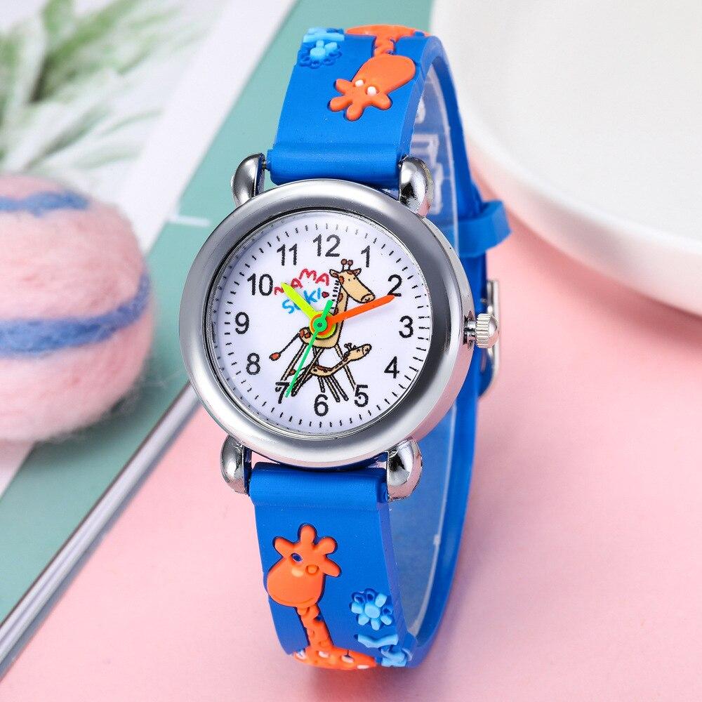 Children Watch Girl Quartz Waterproof Watch Student Leather Watches For Children With Cartoon Kid Clock New