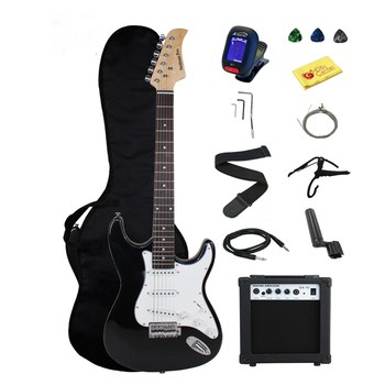HOT 39-inch Electric Guitar Concert Electric Bass Rosewood Fingerboard Left Hand Guitar Black  Electric Box Beginner Gift AGT199 new electric guitar neck maple wood left hand 22 fret 25 5 inch big head stock