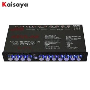 Image 1 - 7 segment equalizer Car Audio EQ tuning crossover Amplifier Car Equalizer  DC 12V D3 008