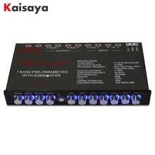 7 сегментный эквалайзер, автомобильный аудио эквалайзер, тюнинг, кроссовер, усилитель, автомобильный эквалайзер, постоянный ток 12 В, D3 008