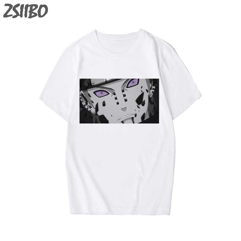 Męska koszulka Naruto lato Harajuku fajne Unisex koszulka z krótkim rękawem japońskie Anime z zabawnym nadrukiem Streetwear T-shirt Plus size