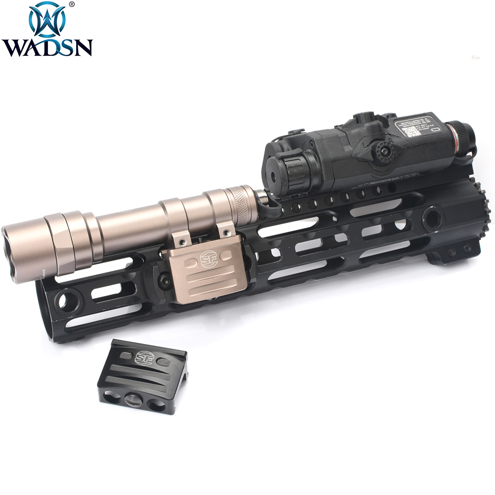 WADSN Airsoft RM45 Offset Rail Mount For Surefir M300 M600 M600C M600B Hunting Weapon Light Softair Handguard Cover Accessory