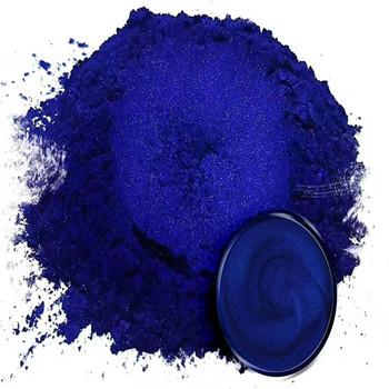 15g ciemnoniebieski proszek perłowy proszek mica DIY barwnik do farby kolorowy proszek Flash proszek metalowy darmowa wysyłka tanie i dobre opinie Natural Mica Dyeing Pigment