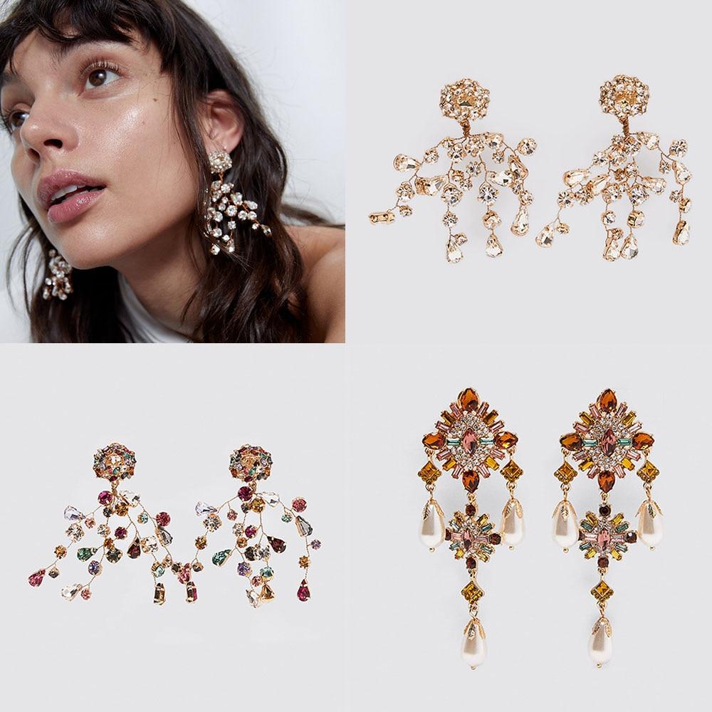 Charm Yellow Color Silica Gel Jewelry Acrylic Long Tassel Colorful Triangle Dangle Earrings