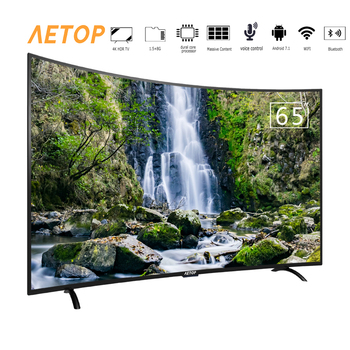 Free shipping-television 65 inch curved screen tv android smart tv