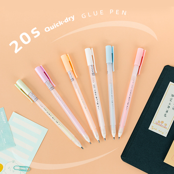 2pcs Candy Glue Pen Stick Dot Liner Contact Adhesive Pastel for Memo Photo Diary Album Journal Office Tools School Supplies F505 image