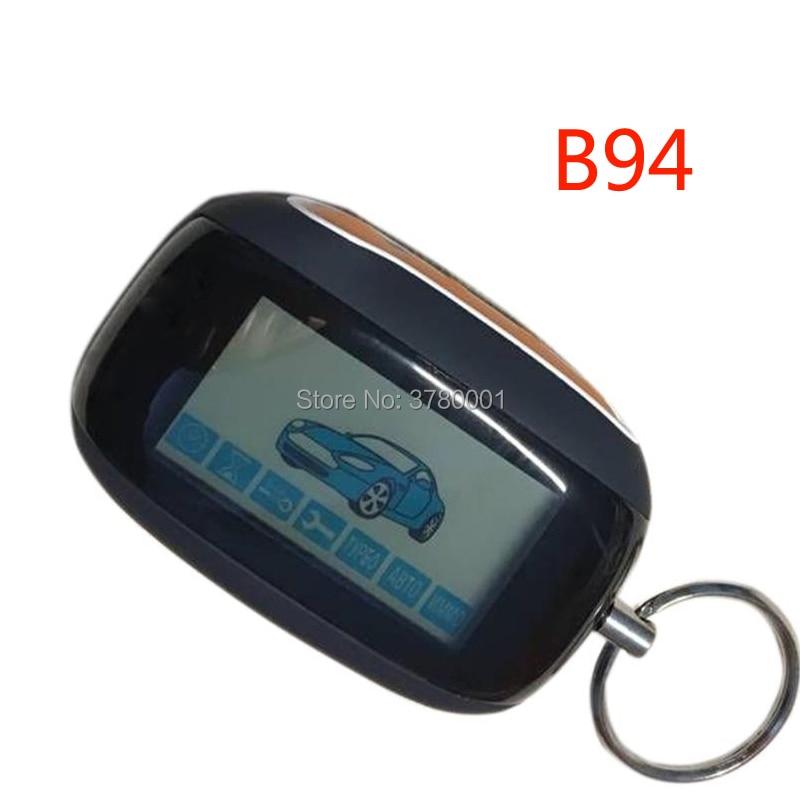 B94 LCD Remote Control Keychain Fob For Two Way Russian StarLine B94 Car Alarm System